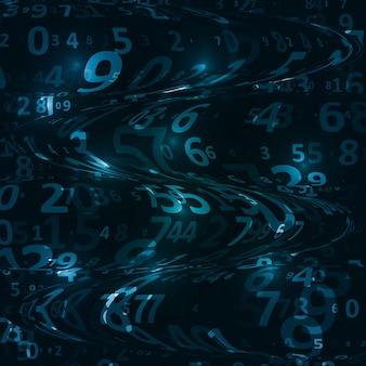 Fundo do código digital