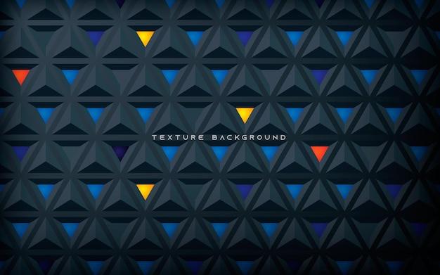 Fundo do conceito 3d da textura do triângulo com decoração colorida