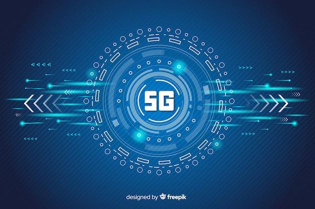Fundo do conceito 5g futurista