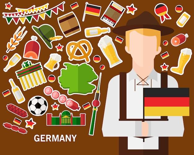 Fundo do conceito de alemanha