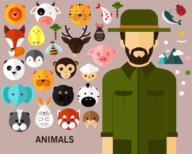 Fundo do conceito de animais.