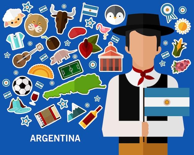 Fundo do conceito de argentina