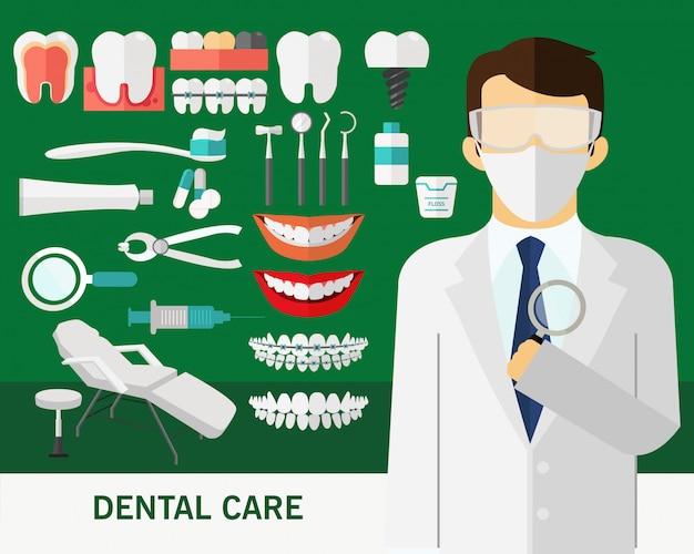 Fundo do conceito de atendimento odontológico