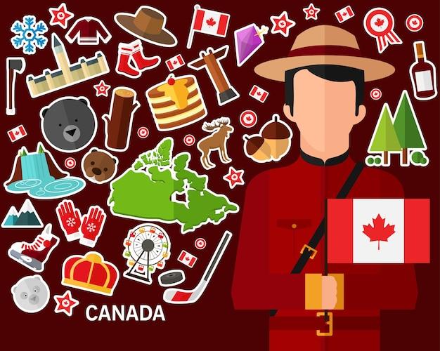 Fundo do conceito de canadá