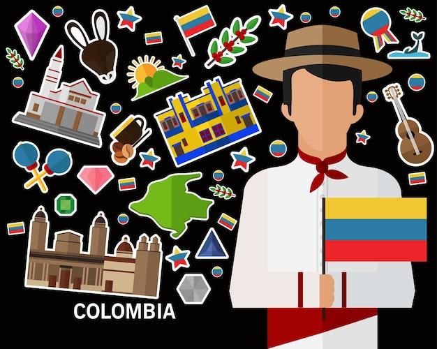 Fundo do conceito de colômbia