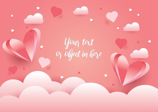 Fundo do conceito de design de amor e dia dos namorados
