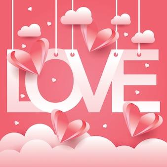 Fundo do conceito de design de amor