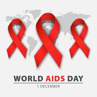 Fundo do conceito de dia mundial da sida