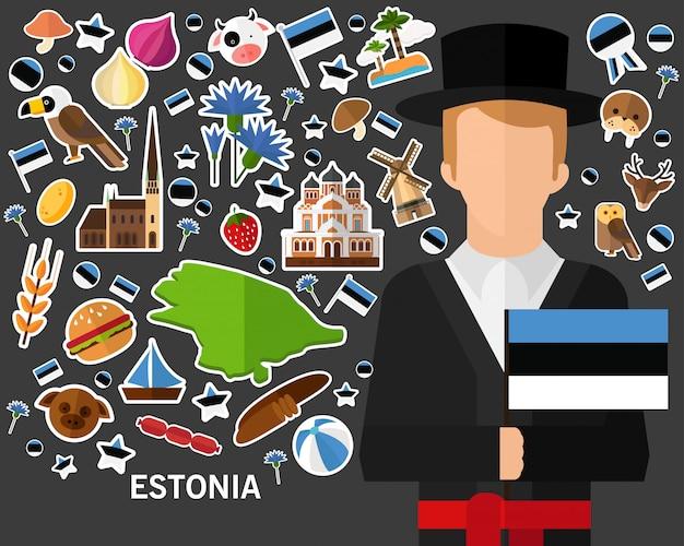 Fundo do conceito de estónia