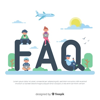 Fundo do conceito de faq