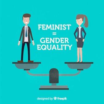 Fundo do conceito de feminismo