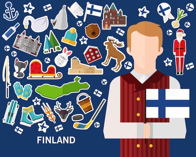 Fundo do conceito de finlândia