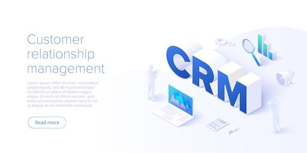 Fundo do conceito de gestão de relacionamento com o cliente.