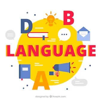 Fundo do conceito de linguagem