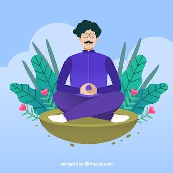 Fundo do conceito de meditação