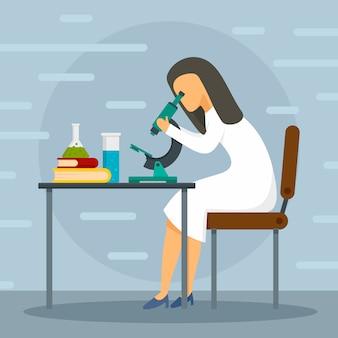 Fundo do conceito de microscópio médico.
