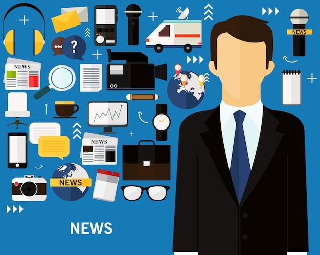 Fundo do conceito de notícias