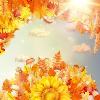 Fundo do conceito de outono.