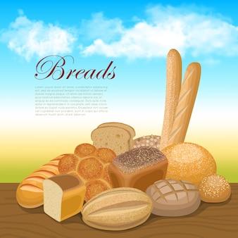 Fundo do conceito de pão