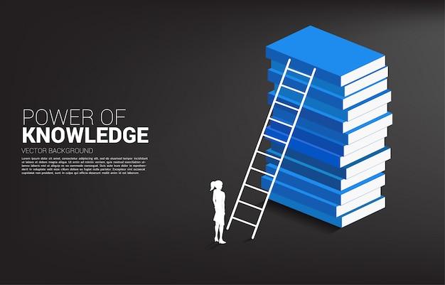 Fundo do conceito de poder do conhecimento.