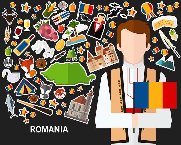 Fundo do conceito de roménia