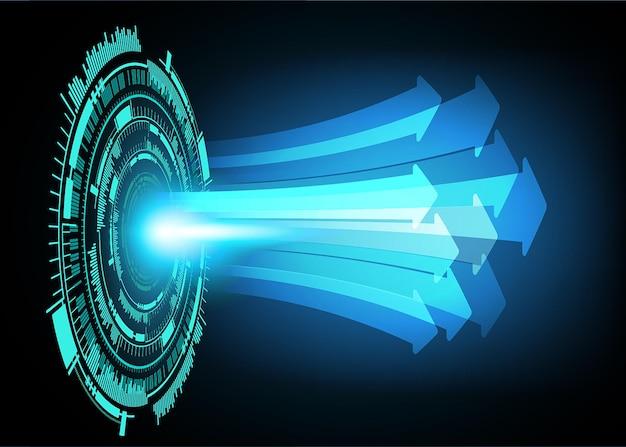 Fundo do conceito de tecnologia do futuro do circuito cibernético cadeado fechado
