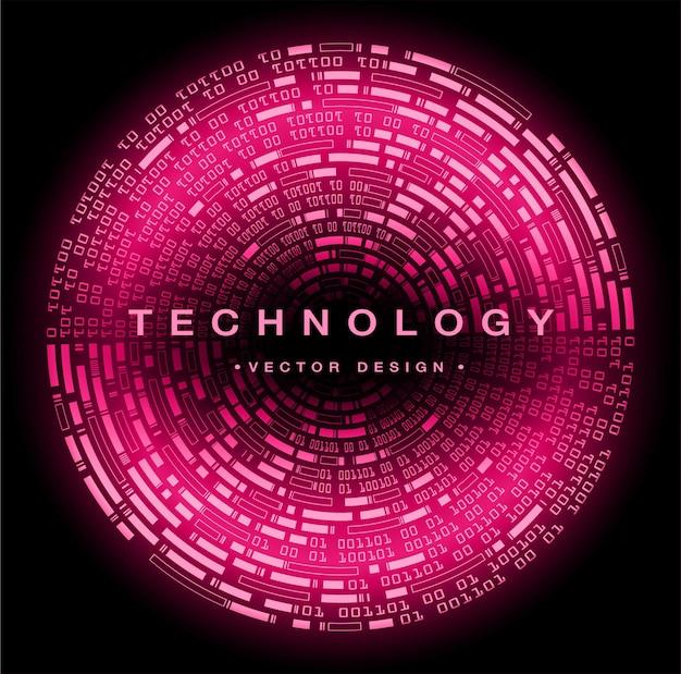 Fundo do conceito de tecnologia futura de circuito binário cibernético