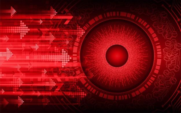 Fundo do conceito de tecnologia futura do circuito cibernético do olho
