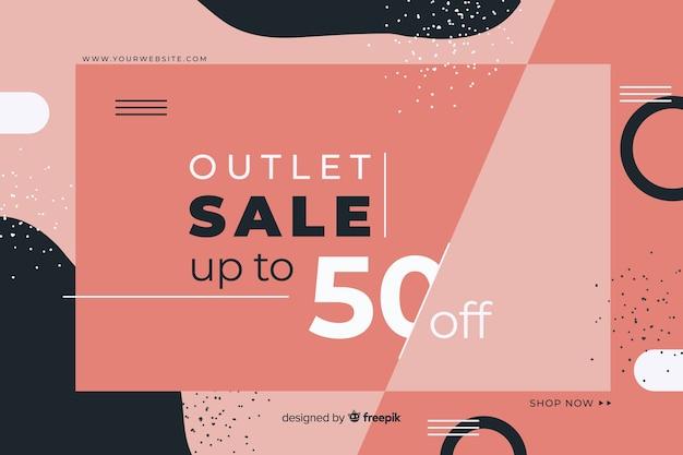 Fundo do conceito de venda minimalista online