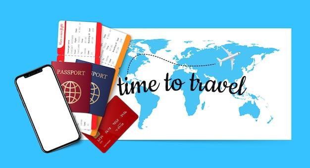 Fundo do conceito de viagens