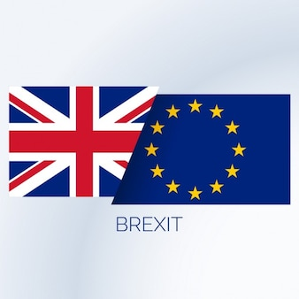 Fundo do conceito do brexit com bandeiras do reino unido e da ue