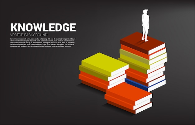 Fundo do conceito para o poder do conhecimento.