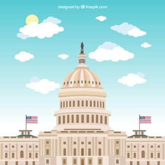 Fundo do congresso dos estados unidos em estilo simples