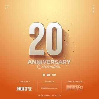 Fundo do convite do 20º aniversário