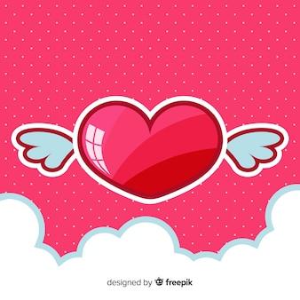 Fundo do coração brilhante