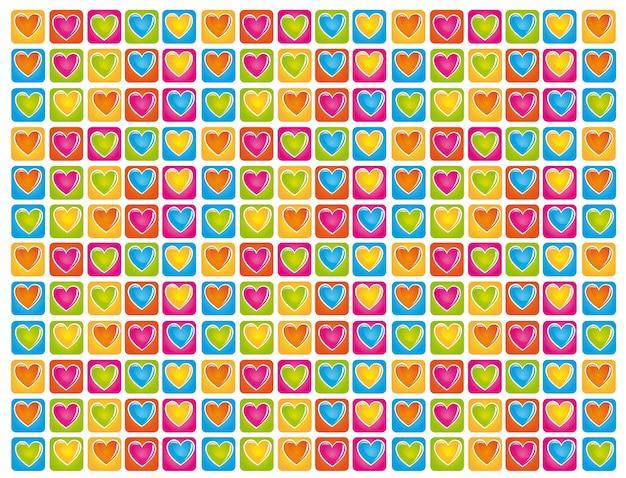 Fundo do coração de cores