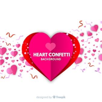 Fundo do coração dobrado