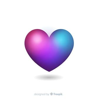 Fundo do coração gradiente