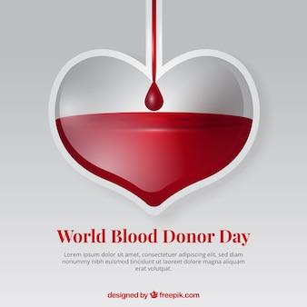Fundo do coração para o dia do doador
