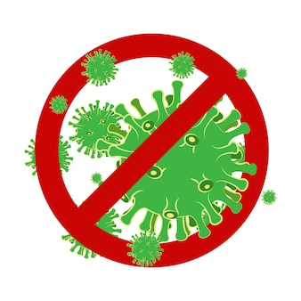 Fundo do coronavírus de wuhan 2019-ncov. novo coronavírus. surto de vírus perigoso na china. pare o coronavírus. ilustração em vetor eps 10.