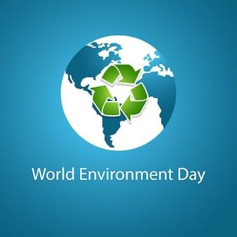 Fundo do dia azul meio ambiente mundial