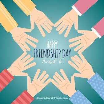 Fundo do dia da amizade com as mãos