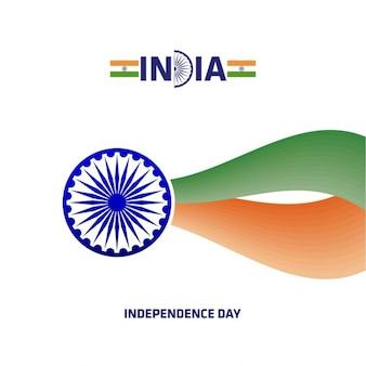 Fundo do dia da independência ashoka roda indiana