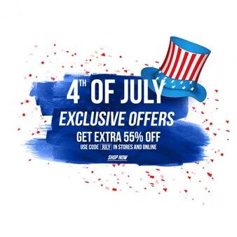 Fundo do dia da independência com ofertas exclusivas