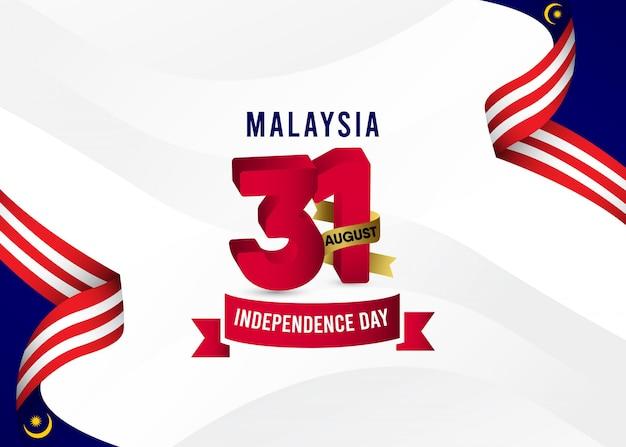 Fundo do dia da independência da malásia