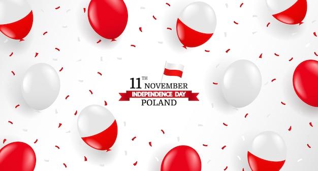 Fundo do dia da independência da polônia Vetor Premium
