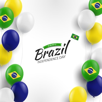 Fundo do dia da independência do brasil com balões