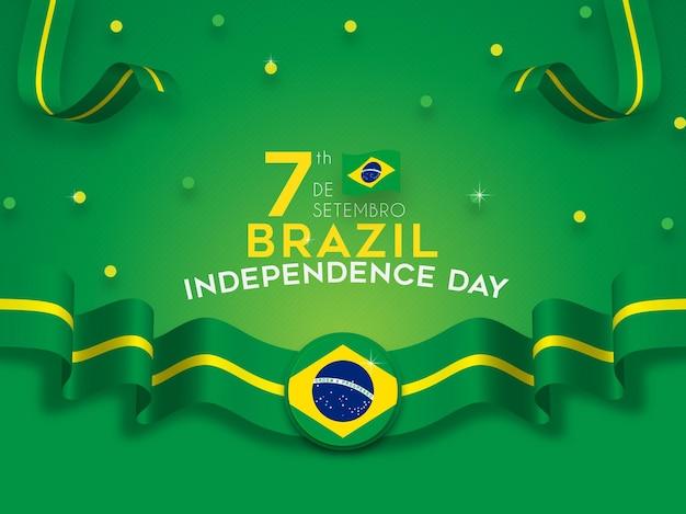 Fundo do dia da independência do brasil com bandeira da faixa de opções
