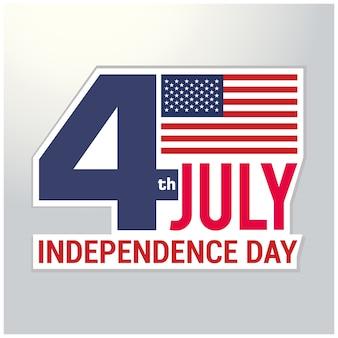 Fundo do dia da independência e logotipo do emblema com bandeira dos eu