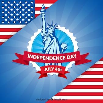 Fundo do dia da independência patriótico